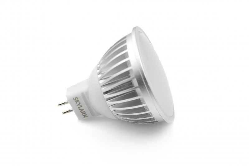 LED lamp socket GU5.3, shape MR16, wattage 6 W, voltage 230 V
